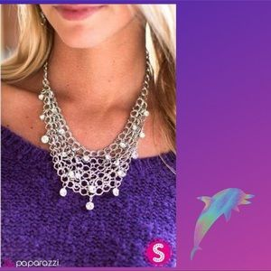 Fishing for Compliments Silver Mesh Necklace Set